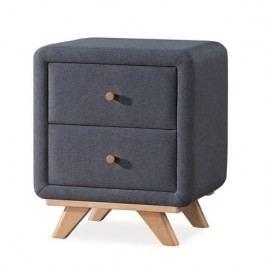 Čalouněný noční stolek v tmavě šedé barvě KN221