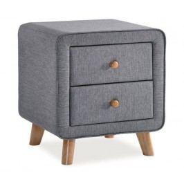 Čalouněný noční stolek v šedé barvě KN234