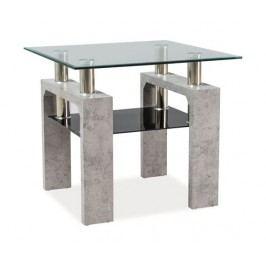 Stylový konferenční stolek v barvě beton typ D KN126