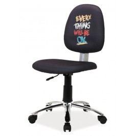 Kancelářská židle s designovým nápisem Everything Will Be Ok KN098