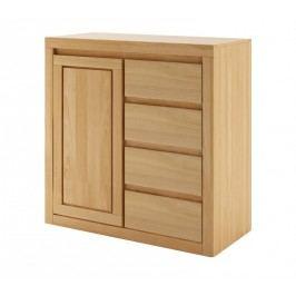 Dřevěná stylová kombinovaná komoda z bukového dřeva typ DK411 KN095
