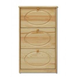 Dřevěný botník se 3 zásuvkami typ BS112 KN095