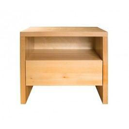 Stylový noční stolek z bukového dřeva se zásuvkou typ NS112 KN095