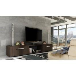 Moderní televizní stolek v barevném provedení hnědá choco KN107