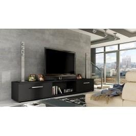 Moderní televizní stolek v barevném provedení matné černé KN107