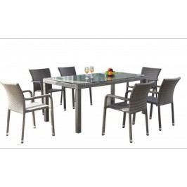 Jídelní stůl 150x90 cm v šedém provedení BARCELONA