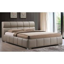 Manželská postel o rozměrech 160 x 200 cm v barvě cappuccino s roštem KN262