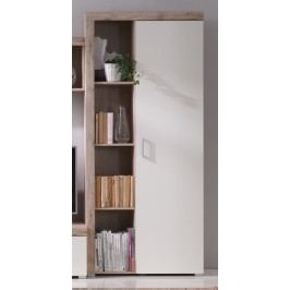 Regál v dekoru dub san remo v kombinaci s bílou barvou s třemi policemi F1050