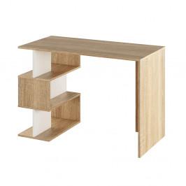 PC stůl, dub sonoma / bílá, Abes