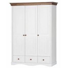 Šatní skříň se zásuvky v bílé barvě typ 17A KN091