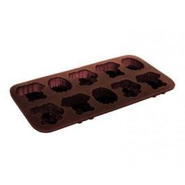 Formičky na čokoládu silikonové CULINARIA Brown 20,3 x 10,6 cm, zvířátka