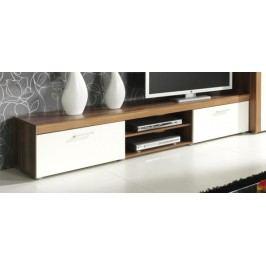 TV stolek v dekoru švestka v kombinaci s krémovou barvou F1050