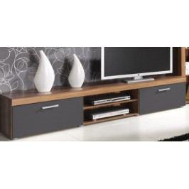 TV stolek v provedení švestka a grafit F1050