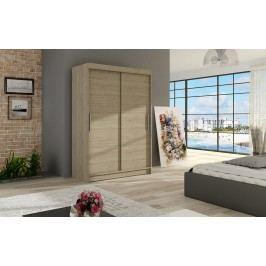 Šatní skříň s posuvnými dveřmi v dekoru dub sonoma F1126