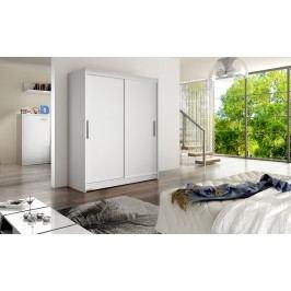 Skříň s posuvnými dveřmi v bílé barvě F1113