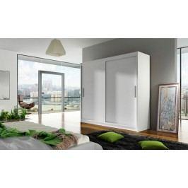 Skříň s posuvnými dveřmi v bílé barvě F1104
