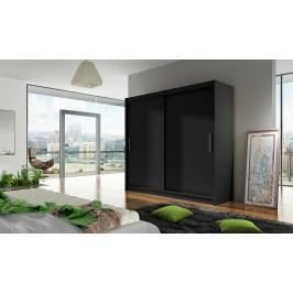 Skříň s posuvnými dveřmi v černé barvě F1104