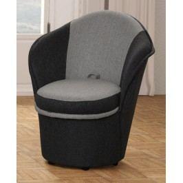 Pohodlné křeslo s úložným prostorem v šedých barvách KN330