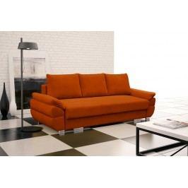 Rozkládací pohovka s polštáři v oranžové barvě F1095