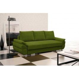 Rozkládací pohovka s polštáři v zelené barvě F1095