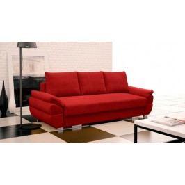 Rozkládací pohovka s polštáři v červené barvě F1095