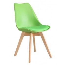 Pohodlná jídelní židle v ergonomickém tvaru v zelené barvě KN266
