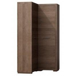 Moderní rohová šatní skříň v levém provedení s možností výběru barvy typ V 39 KN300