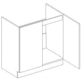 Skříňka dolní dřezová š.80cm D 80 ZL KN2001 wenge