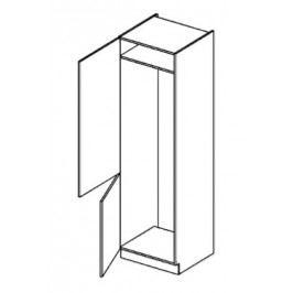 Skříňka dolní na vestavnou lednici š.60cm DL 60 - levá KN2001 wenge