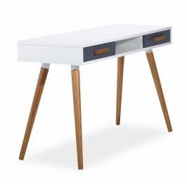 Pracovní stolek 120 cm v bílém laku s dekorem dub typ B1 KN619