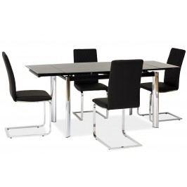 Jídelní stůl GD-020 rozkládací černý