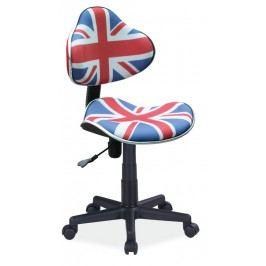 Dětská kancelářská židle s anglickou vlajkou KN045