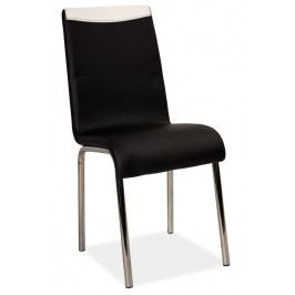 Jídelní čalouněná židle v černé barvě na kovové konstrukci KN1072