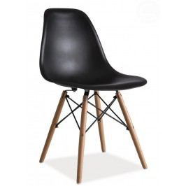 Jídelní židle v černé barvě KN166