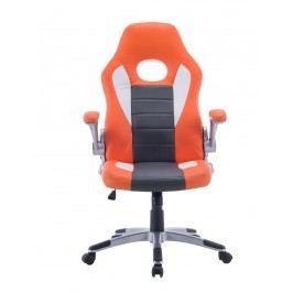 Kancelářské křeslo v kombinaci oranžové a šedé barvy F1259