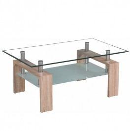 Konferenční stolek s ostře řezanými tvary a dekorem dub sonoma TK200