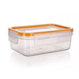 BANQUET Dóza plastová hermetická SUPER CLICK 0,475 l, oranžová