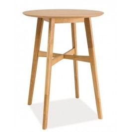 Klasický dřevěný barový stůl v dekoru dub KN402
