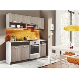 Kuchyňská linka 180 v moderní barvě dub picard s pracovní deskou KN2000
