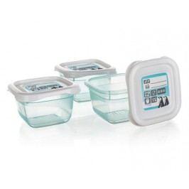 Sada plastových dóz POLAR 3 ks, 6,5 x 6,5 x 4 cm,  0,1 l