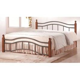 Manželská postel 160x200 cm v klasickém stylu s roštem KN368