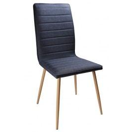 Jídelní čalouněná židle v modré látce KN364