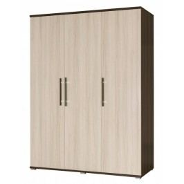 Šatní skříň 150 cm s dveřmi v dekoru jasan světlý a korpusem v dekoru jasan tmavý typ R1 F2010