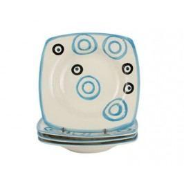4d sada hlubokých talířů square modrá COLORÉ, OK
