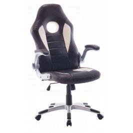 Kancelářské křeslo v kombinaci tmavě hnědé a béžové barvy F1259