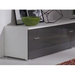 Televizní stolek 100 cm v barvě grafit v lesku a bílým korpusem typ R5 F2006
