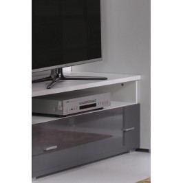 Televizní stolek 100 cm v barvě grafit v lesku a bílým korpusem typ R6 F2006