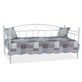 Klasická postel 90 x 200 cm v elegantním zpracování v bílé barvě KN348