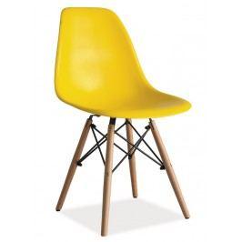 Jídelní židle ve žluté barvě KN166