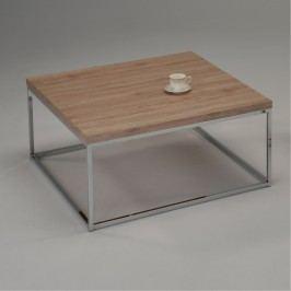 Konferenční stolek 100x46cm v dekoru dub sonoma s chromovou konstrukcí TK2113